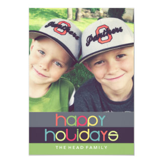Oh What Fun Happy Holidays Card | 5x7 | Flat