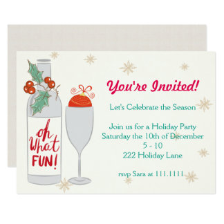 Oh What Fun Holiday Invite