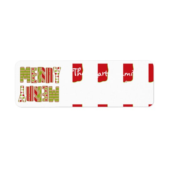 Oh What Fun! Merry Christmas address labels