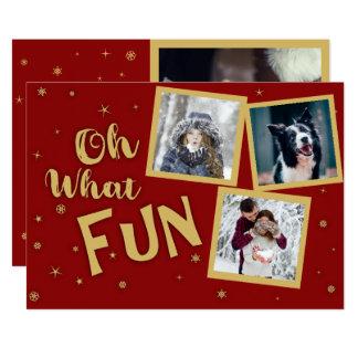 Oh What Fun Photo Christmas Card
