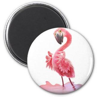 Oh Yeah Flamingo! 6 Cm Round Magnet