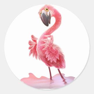 Oh Yeah Flamingo! Classic Round Sticker