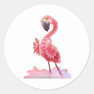 Oh Yeah Flamingo! Round Sticker