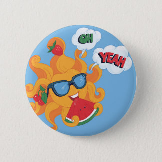 Oh! Yeah! it's summer time 6 Cm Round Badge