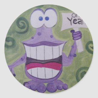 Oh Yeah ! Purple Polywog logo stickers