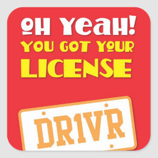 Oh yeah! you got your license! DR1VR Sticker