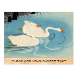 Ohara Shoson Two Sweeming Geese japanese art
