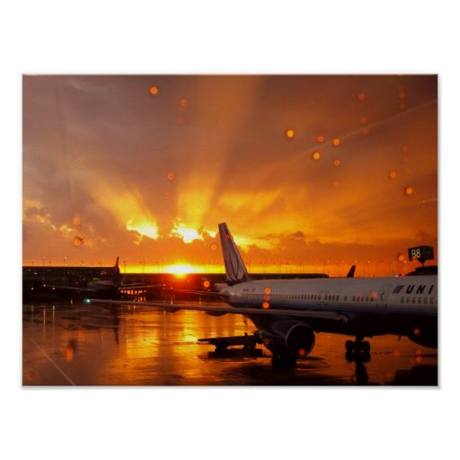 O'Hare Sunset Poster