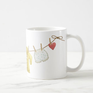 OhBaby ADORABLE BABY CLOTHES HANGING CLOTHESLINE P Coffee Mug
