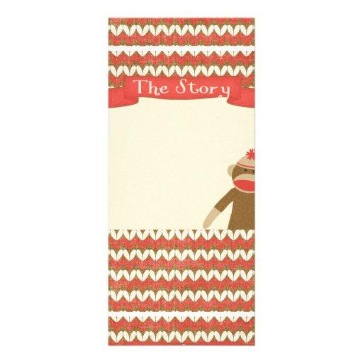 OhBabyBaby CUTE CARTOON MONKEY STORY SCRAPBOOKING Rack Card