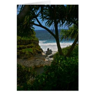 O'heo Gulch Pools, Maui Greeting Card
