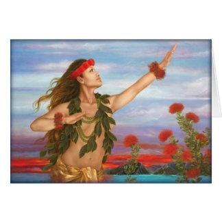 """Ohia and Lehua"" by Maui artist Lori Higgins. 5x7 Card"