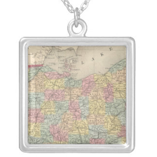 Ohio 13 silver plated necklace