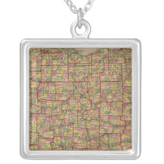 Ohio 3 silver plated necklace