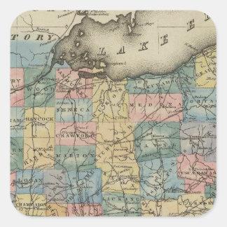 Ohio 4 square sticker