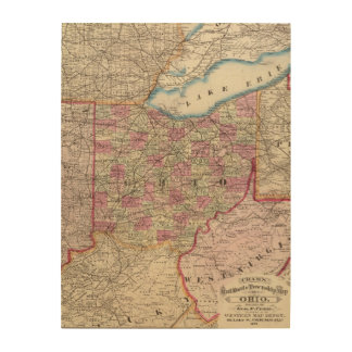 Ohio 9 wood print