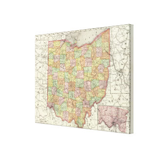Ohio and Hamilton County Canvas Print
