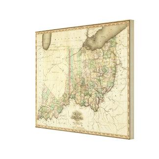 Ohio and Indiana 3 Canvas Print
