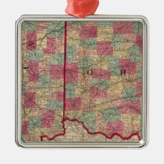 Ohio and Indiana 3 Christmas Ornament