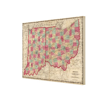 Ohio and Indiana Canvas Print