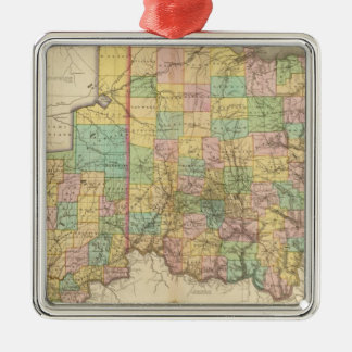 Ohio and Indiana Christmas Ornament