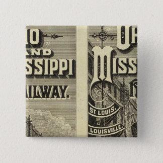 Ohio and Mississippi Railway 15 Cm Square Badge