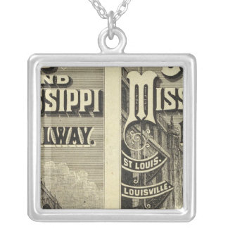 Ohio and Mississippi Railway Silver Plated Necklace