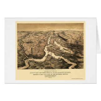 Ohio and Mississippi River Map 1861 Card