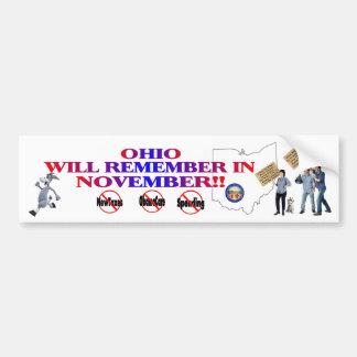 Ohio - Anti ObamaCare, New Taxes & Spending Bumper Sticker