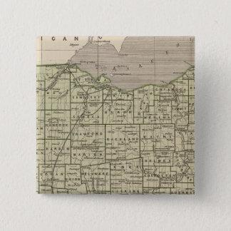 Ohio Atlas Map 15 Cm Square Badge