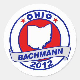 Ohio Bachmann Round Stickers