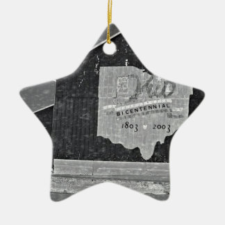 Ohio Barn In Winter Christmas Ornament