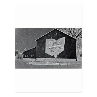Ohio Barn In Winter Postcard