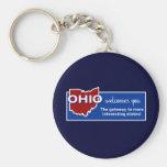 Ohio Basic Round Button Key Ring