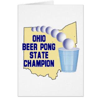 Ohio Beer Pong Champion Greeting Card