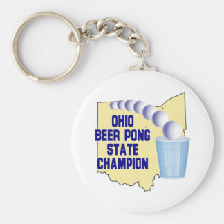 Ohio Beer Pong Champion Key Chains