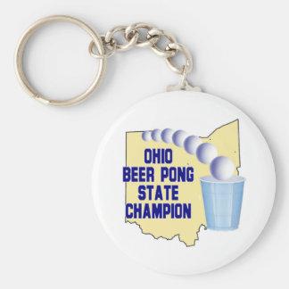 Ohio Beer Pong Champion Key Chains