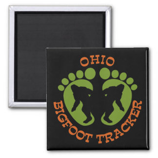 Ohio Bigfoot Tracker Square Magnet