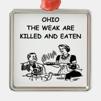 OHIO CHRISTMAS ORNAMENT