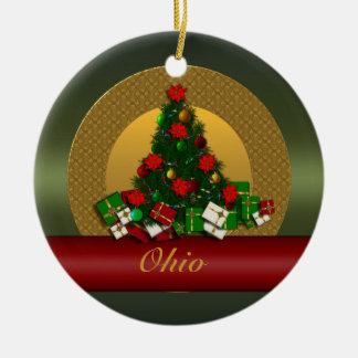 Ohio Christmas Tree Ornament