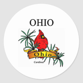 ohio classic round sticker