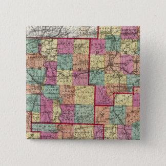 Ohio Counties 15 Cm Square Badge