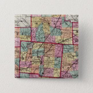 Ohio Counties 2 15 Cm Square Badge