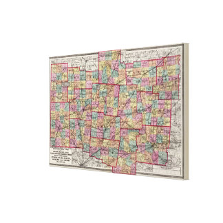 Ohio Counties 2 Canvas Print