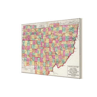 Ohio Counties Canvas Print