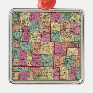 Ohio Counties Christmas Ornament