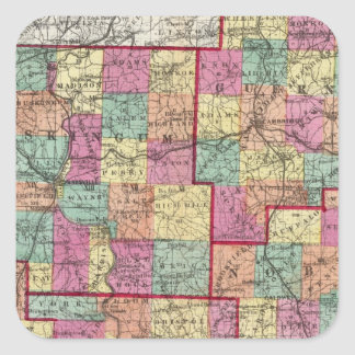 Ohio Counties Square Sticker