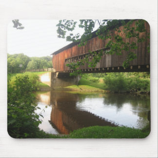Ohio Covered Bridge and Stream Mouse Pad
