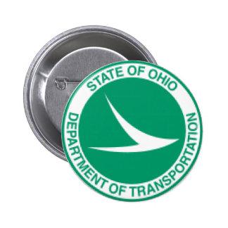 Ohio Department of Transportation Button. 6 Cm Round Badge
