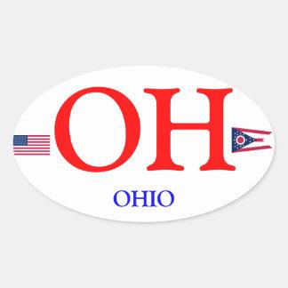 Ohio* Euro-style Oval Sticker